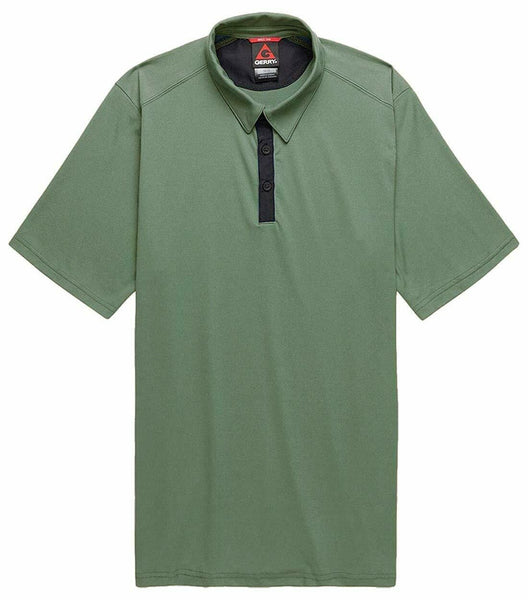 Gerry Men's Quick Dry Short Sleeve Polo Shirt Olive Large