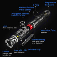 WUBEN E05 LED Flashlight 1200 Lumen Tactical USB Rechargeable Waterproof 5 Modes