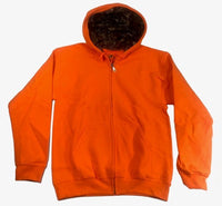 Mossy Oak Aqua Defense Full Zip Sweatshirt Camo Hoodie Safety Orange Small