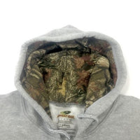 Mossy Oak Men's Aqua Defense Full Zip Sweatshirt Camo Hoodie Sport Grey Medium