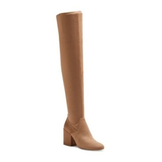 Women's Dolce Vita Cayla Over the Knee Boots - Light Taupe 9