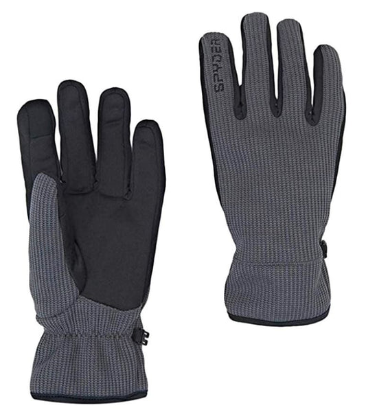 Spyder Core Winter Gloves Medium Gray Conductive Material Touch Screen Devices
