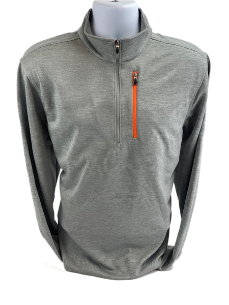 Bolle Men's X-Large Moisture Wicking Performance 1/4 Zip Pullover, Grey