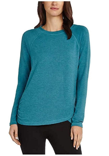 Danskin Women's Long Sleeve Crossover Top, Colonial Blue, XX-Large