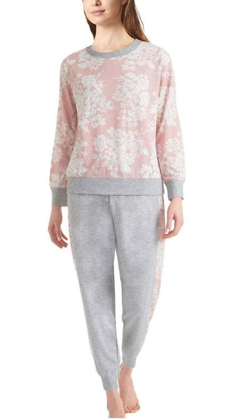 Splendid Ladies' Jogger and Crew Neck Set Pink Small