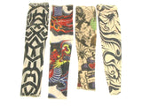 Set of 4 NYLON TATTOO SLEEVES tribal + inked Halloween Costume Biker Punk Rocker