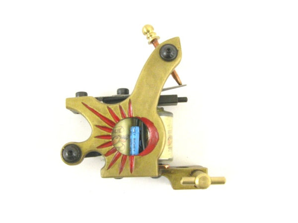TATTOO MACHINE /GUN - RISING SUN - 10 WRAP CUSTOM BUILT HANDMADE replacement NEW