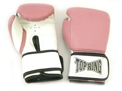 BOXING GLOVES - PINK -10 oz  Wrist Support Top Ring NEW!