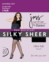 Just My Size by Hanes Women's Plus Size 1X/2X Run Resistant Control Panty Hose