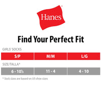 Hanes Girls Tights, 2 Pairs Stockings White Large (Little Girls & Big Girls)