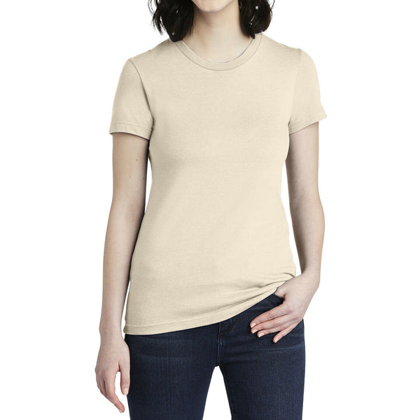 American Apparel Womens Size Small 100% Cottom Fine Jersey T-Shirt 2102W CREME