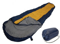 SLEEPING BAG MUMMY Type 8' Foot BLUE ORANGE 20+ Degrees F with Carrying Bag