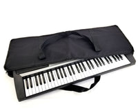 "Gig Bag with Padded Plush Case and Storage Travel Strap for Keyboard, Size: 36"" x 14"" x 4"", Color: Black"