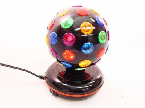 "NEW COOL DISCO BALL LIGHT - 6"" GLOBE - Rotates Colors"