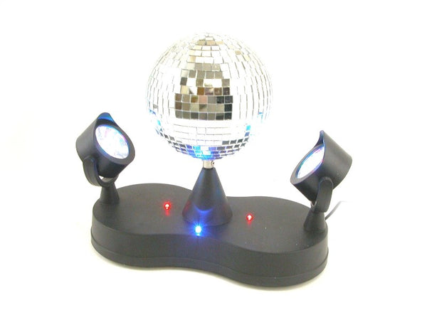 "REAL Glass 4"" Mirror Disco Ball with 16 LED Lights NEW"