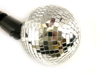 "REAL Glass 4"" Mirror Disco Ball with Spinning Motor NEW"