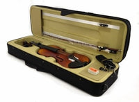 VIOLIN 1/4 Scale QUARTER Size NATURAL WOOD FIDDLE Travel Case Rosin Bow NEW SET