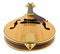 8-String MANDOLIN A-Style NATURAL WOOD Acoustic SANDALWOOD, SPRUCE Gold Hardware