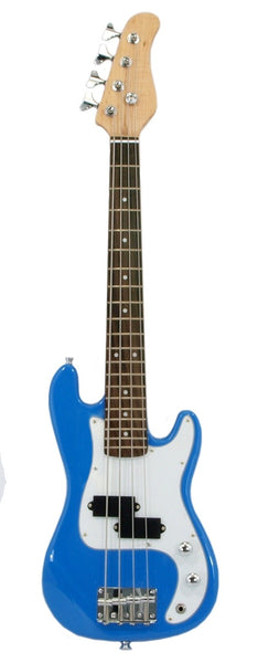"ELECTRIC BASS GUITAR - BLUE - Small Scale 36"" Inch Childrens Mini Kids NEW"