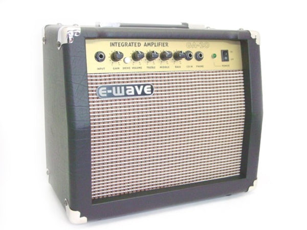 GA-20 GUITAR AMPLIFIER - 20 watt - E-WAVE PRACTICE AMP