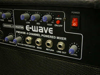 PMX4100 - 4 CHANNEL POWERED MIXER COMBO AMPLIFIER EWAVE