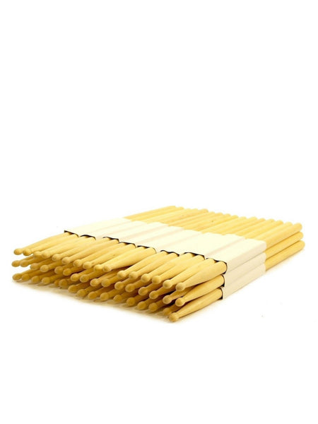 Zenison - 12 PAIRS - 2A WOOD TIP NATURAL MAPLE DRUMSTICKS