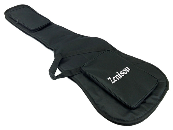 "Electric Guitar Bag 46 x 16"" Thin Low Profile - 10mm Thick Padding -Travel Carry"