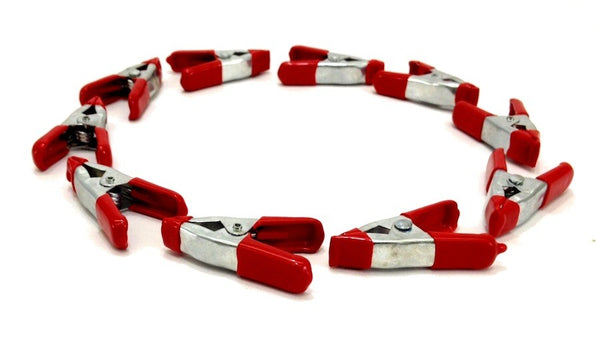 2-Inch Red Spring Clamp Set, 10-Piece