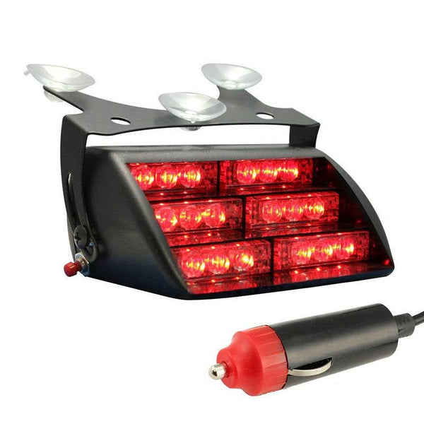 Red LED Emergency Flash Light Dash Warning HS-51034