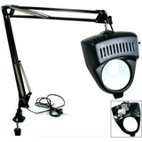 EDM - Clamp on Swing Arm Lighted Magnifying Lamp for Hobby, Work Desk, or Table