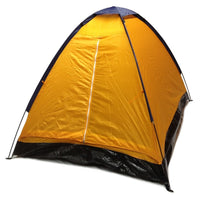 2 Person Dome Camping Tent - 7x5' with Sealed Bottom - Orange