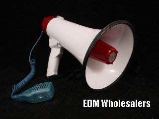 NEW MEGAPHONE 30 WATT + ALARM + SPEAKER Public Address