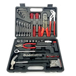 50 pc General Household Hand Tool Kit + Fasteners with Tool Box Storage Case for Apartment, Garage, Dorm and Office