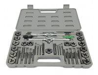 DELUXE 40 piece SAE TAP AND DIE SET w CASE TOOL KIT NEW!