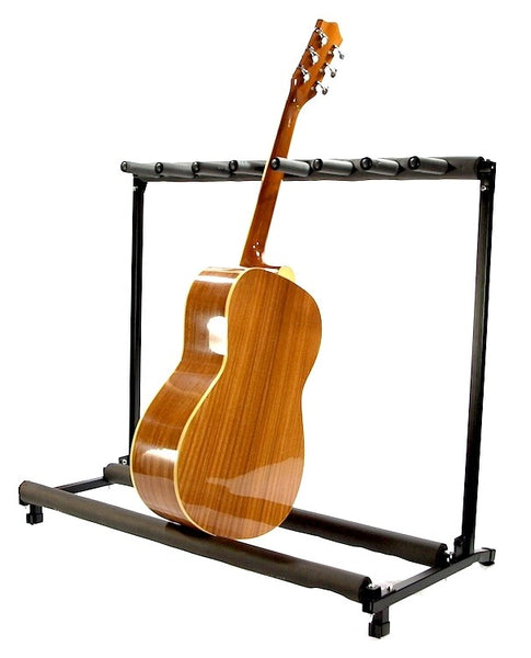 Zenison 7 Guitar Stand Multiple Seven Instrument Display Rack Folding Padded Organizer