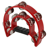 Double Row Metal Tambourine - Red