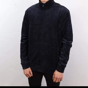 Kiomi Velour Track Top (navy)