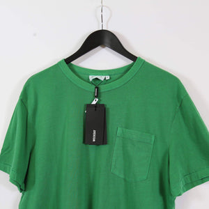 Weekday Anton Washed Pocket T Shirt Bottle Green