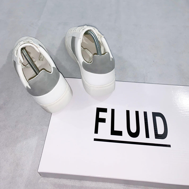 "Fluid Mens ""Stripe up"" Trainer (White/Grey)"