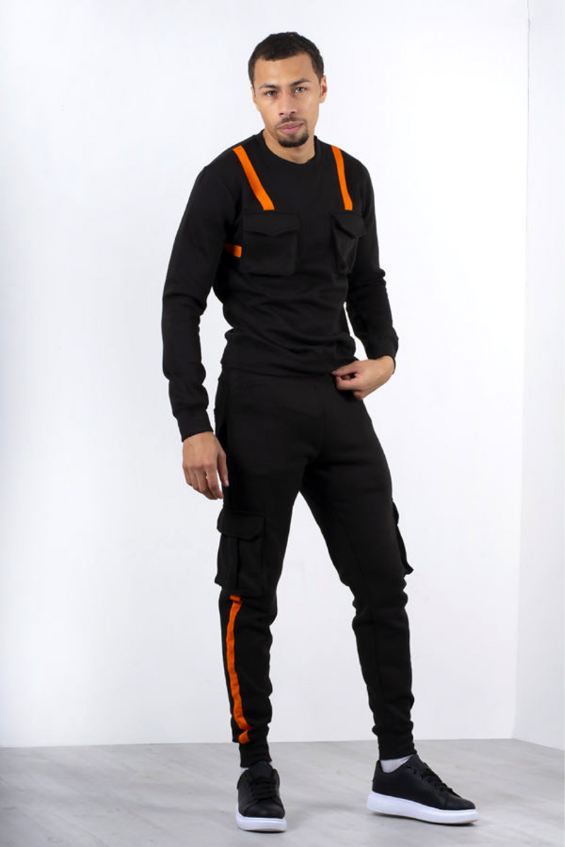Aahron Cornell Tech Utility Crew Tracksuit Black