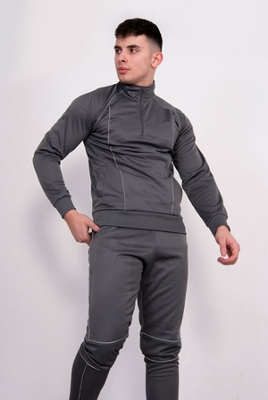 Aahron 'Deansgate' Silver Reflective Funnel Tracksuit