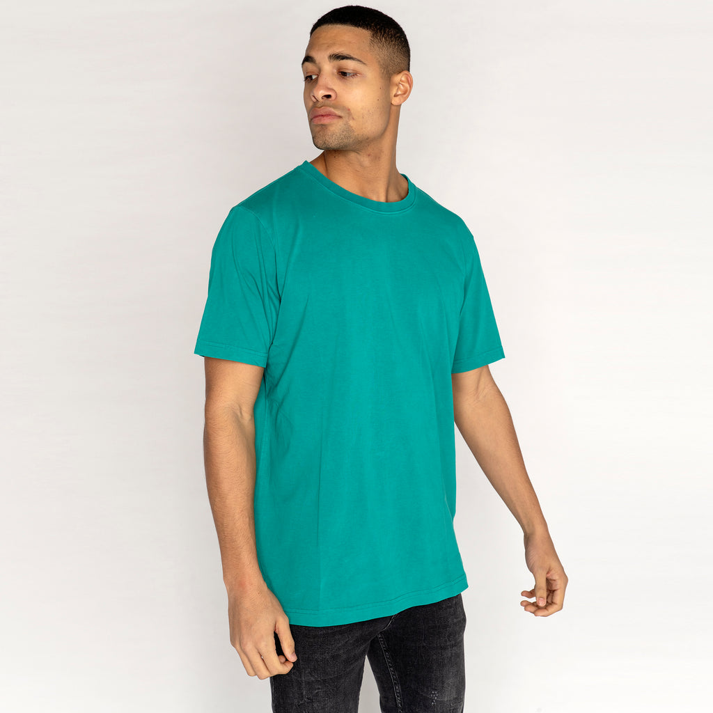 Weekday Frank Washed Teal T Shirt