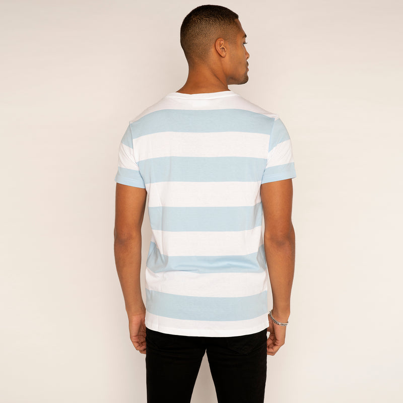 Weekday Alex Stripe T Shirt Blue/White