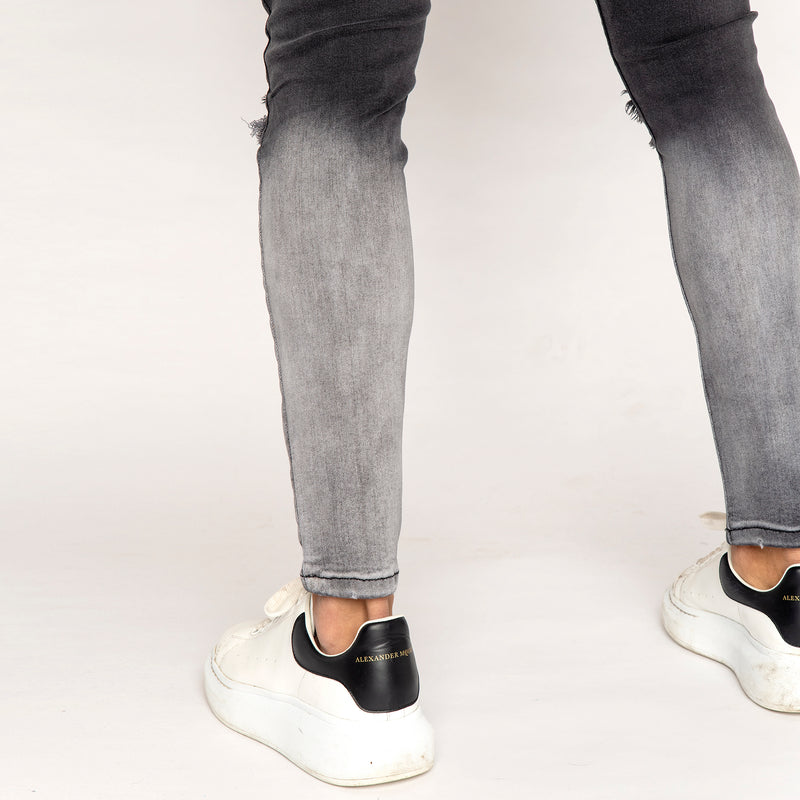 Bucks Couture Cosmo Faded Ripped Jeans