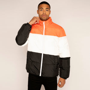 YourTurn Colour Block Puffer Coat (Only XL Left)