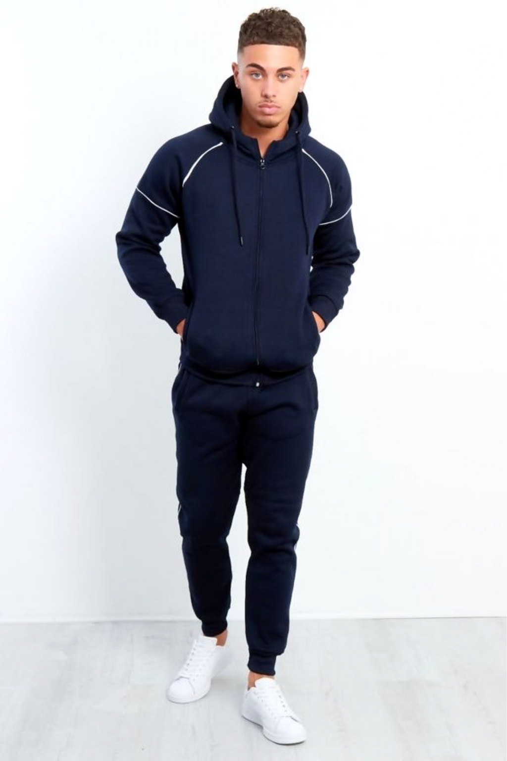 Aahron 'Lux' Navy Side Piped Tracksuit