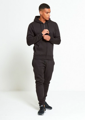 Aahron 'Essentials' Black Full Zip Tracksuit