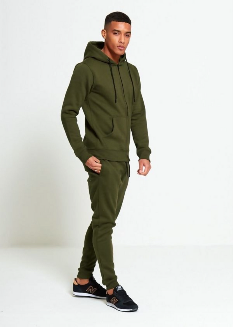 Aahron 'Essentials' Khaki Full Zip Tracksuit