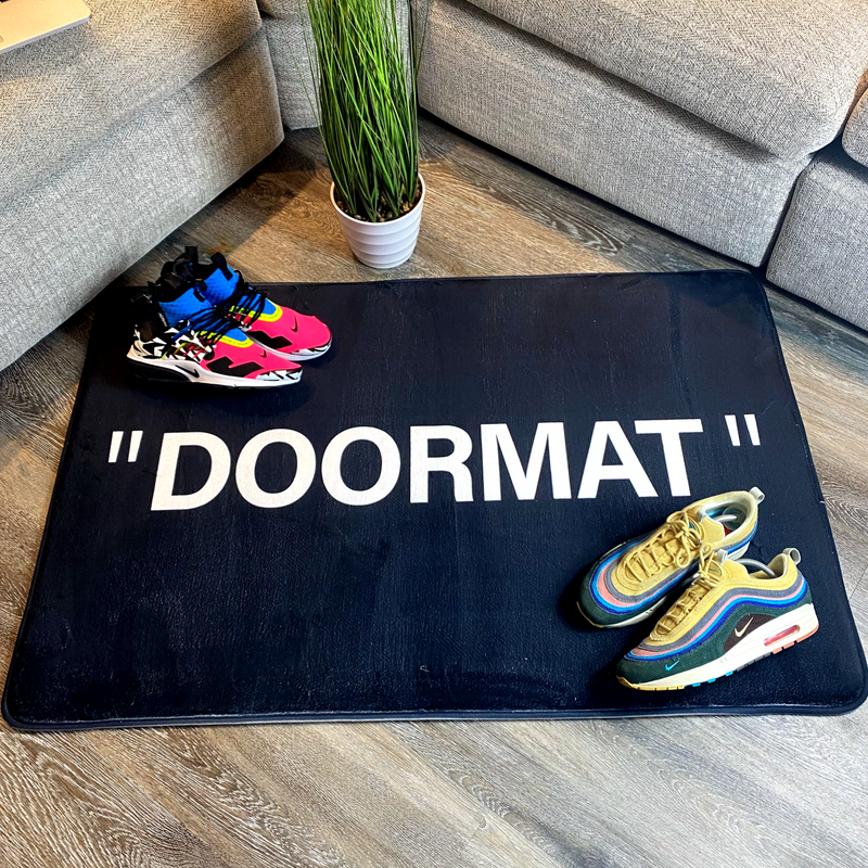 """DOORMAT"" BLACK LARGE"