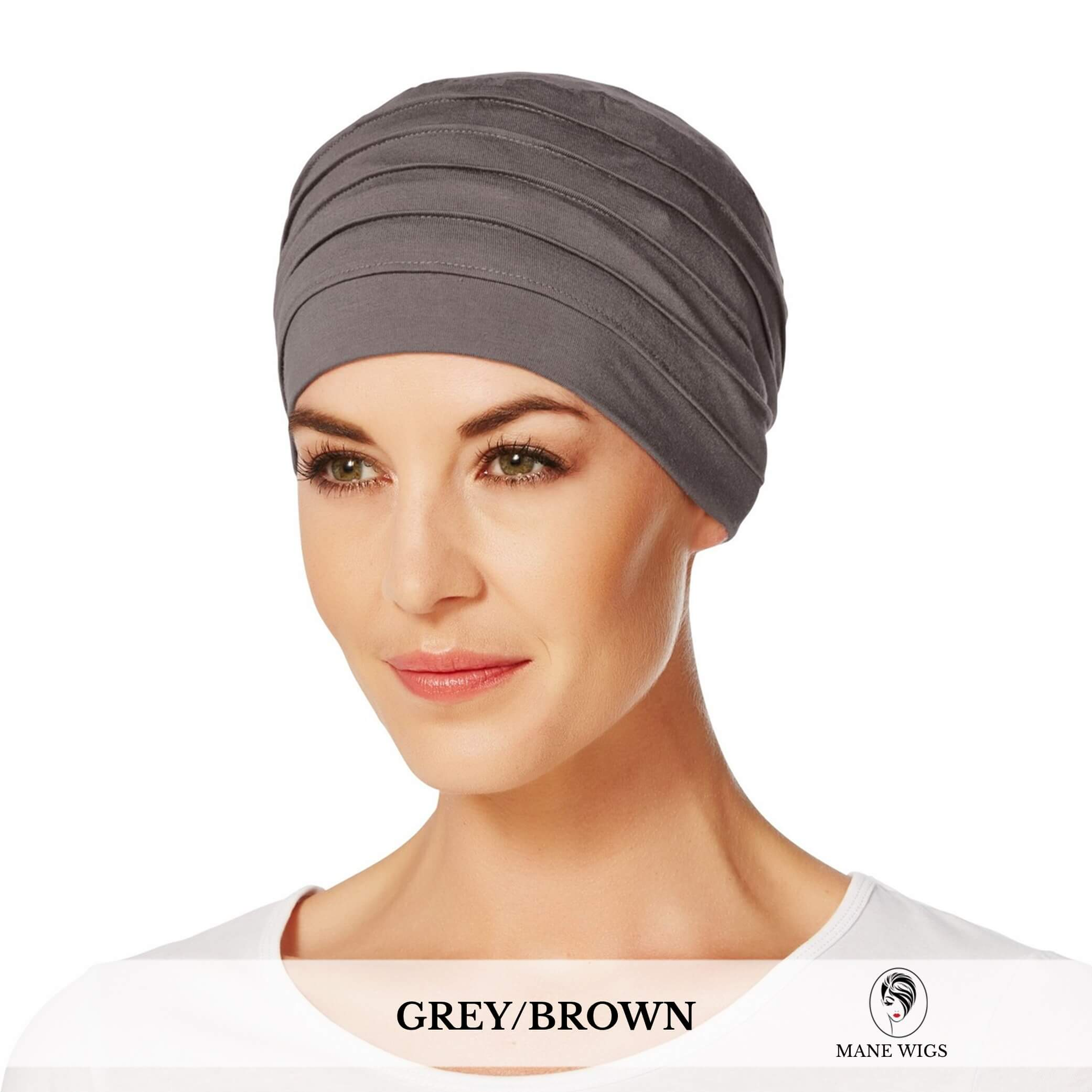 Christine Headwear Yoga Turban 253-Grey/Brown
